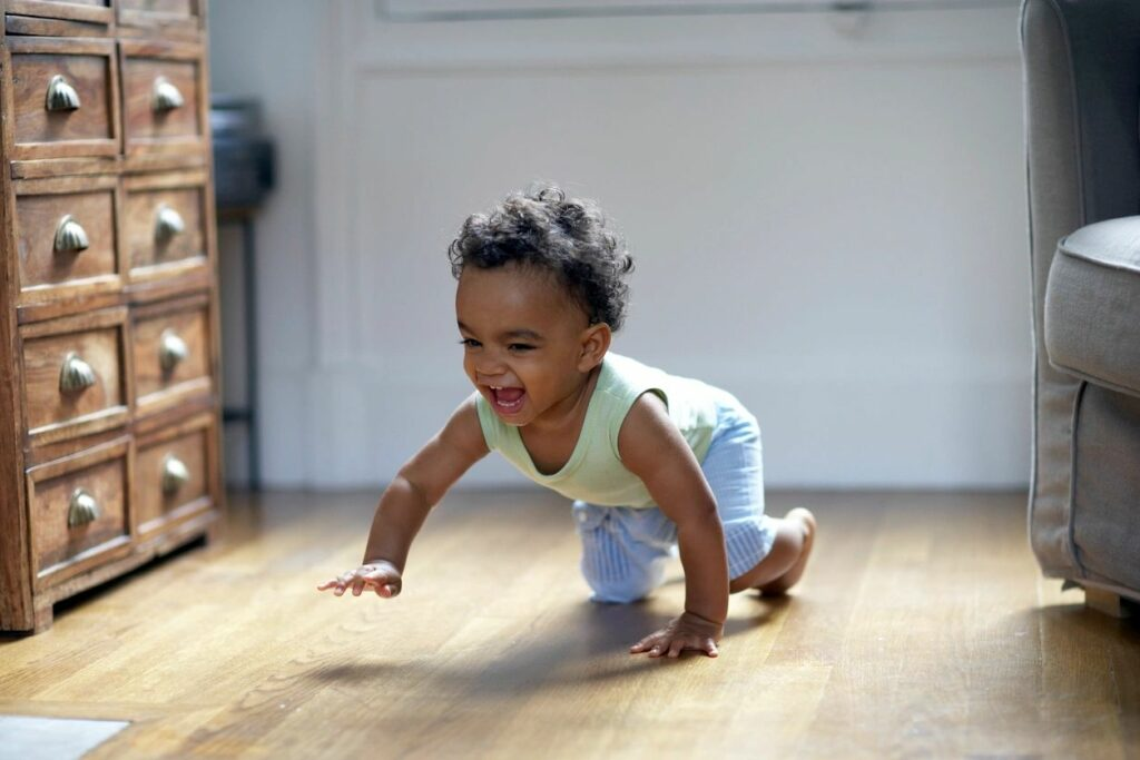 baby having fun without screens