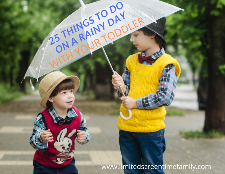 25 Rainy Day Toddler Activities