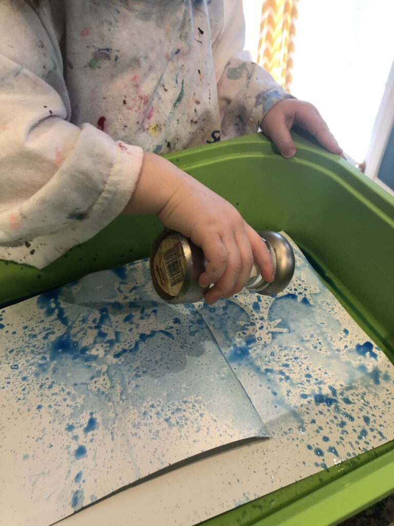 winter art activities for toddlers